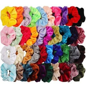 scrunchy Accessories - Velvet Scrunchies 40 pieces Brand New
